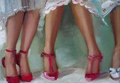 Shoe Talk Print by janethillstudio on Etsy