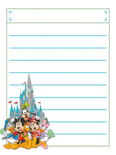 """Group at Castle with title box - Project Life Disney Journal Card - Scrapbooking. ~~~~~~~~~ Size: 3x4"""" @ 300 dpi. This card is **Personal use only - NOT for sale/resale** Logos/clipart belong to Disney. ***Click through to photobucket to see this this card with lots of different characters***"""
