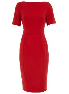 Dorothy Perkins Red flannel pencil dress  Price: £40.00