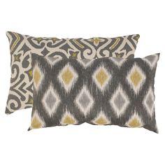2-Piece Damask and Rodrigo Throw Pillow Collection