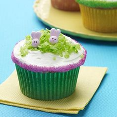 How adorable are these Sweet Lil Bunny Cupcakes? (Correct Answer: Very.)