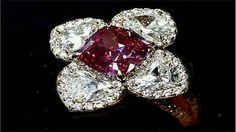 Anillo de Laurence Graff Un joyero Inglés compró el anillo de $ 2,6 millones en una subasta de Christie. El anillo es único debido a que el diamante Burdeos dispuesto en el centro tiene una forma octagonal inusual.
