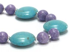 Light Blue Bracelet Purple Chunky Bracelet Circles by CCARIA, $15.00