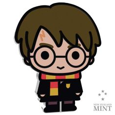 Chibi: Harry Potter - 1 Unze Feinsilber Harry Potter Cartoon, Harry Potter Stickers, Harry Potter Halloween, Chibi, Japan, Ron Weasley, Titans Anime, Coin Collecting, Miraculous Ladybug