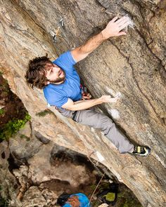 """Matt on one of the super awesome instant classics """"1000 Pound  Gorilla"""" down at The Pit in the Blue Mountains"""