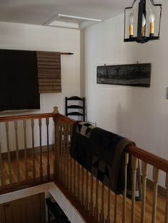 Ruth (Spring Green, WI), made her stair landing wall & ceiling feel light and bright with Manor House White paint.