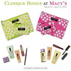Clinique Bonus @ Macy's - from March 26 - April 15, 2018. Qualifier: $28.