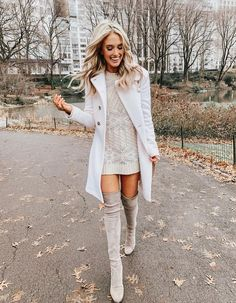 45 Comfy and Classy Oversized Sweater Outfits For Winter Fashion, Sweater Dress Outfit, Winter Dress Outfits, Winter Fashion Outfits, Cute Casual Outfits, Fall Winter Outfits, Look Fashion, Casual Dresses, Autumn Fashion, Womens Fashion