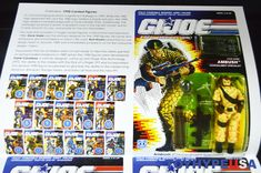 Gi Joe, Book Review, Action Figures, Presents, 3d, Cards, Collection, Gifts, Map