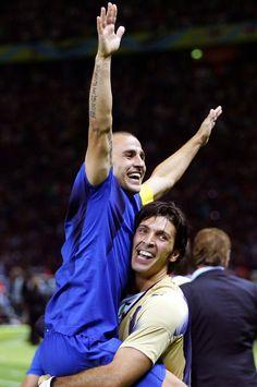 Italian Football ~ Fabio Cannavaro & Gianluigi Buffon  ~  #Italian #Football #Soccer #Players #Sport
