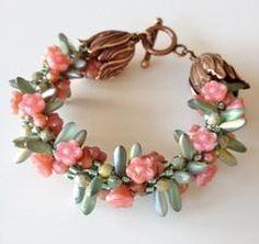 floral kumihimo bracelet
