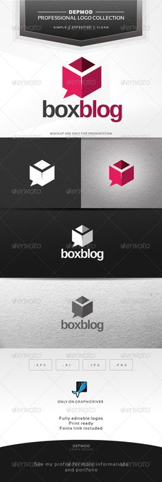 Box Blog Logo — Vector EPS #meeting #cubic • Available here → https://graphicriver.net/item/box-blog-logo/6332342?ref=pxcr