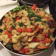Shrimp And Artichoke Pasta - Food Recipes