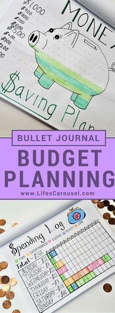 Bullet Journal Budget Planning & More | Awesome ways to use your bullet journal as a savings tracker, money layouts, spending log spread and more. Get your finances in order with your Bujo! #FinanceNotebook