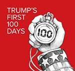 """The White House plans to spend the week telling Americans Trump has kept his promises from the 2016 campaign, while Democrats' theme will be """"100 Days of Broken Promises to American Families."""""""