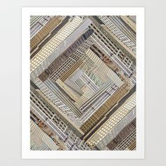 Skyscraper Quilt Art Print by PatternPeople - $65.00
