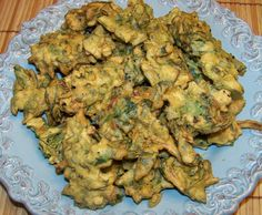 Indian food spinach pakoras-YUM! #foodiefriday