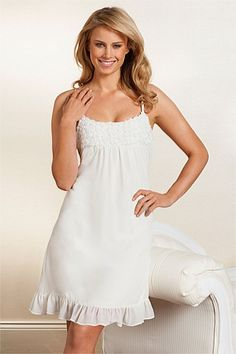 Women's Sleepwear - Pyjamas, PJs, Nighties, Dressing Gowns, Robes - Mia Lucce Rose Panel Nightie