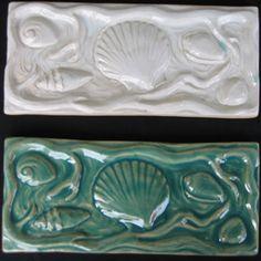 Seashells decorative tile