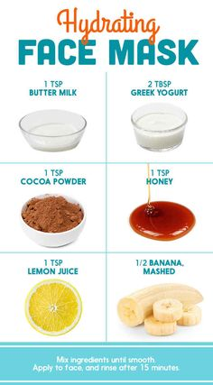 Lemon Juice + Honey + Buttermilk + Cocoa + Greek Yogurt + Banana (in various combinations)
