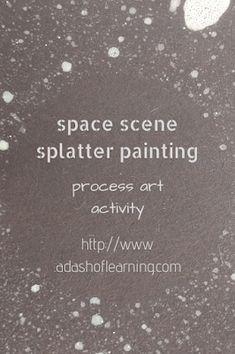 space scene splatter