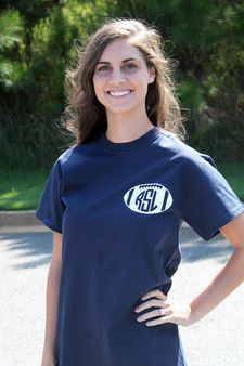 Monogrammed T-shirt with Football Design. Grab this tee in your colors for the perfect comfy game day tee!  - http://www.shopmemento.com/monogrammed-t-shirt-with-football-design/