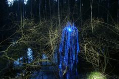 """""""To Live Is To Feel"""".  Janne Parvainen.  Painted with light."""