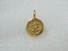 Handmade 24K Gold Vermeil over Sterling Silver Ohm by TerraFinds