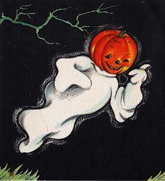 Halloween Greeting Card, 1945