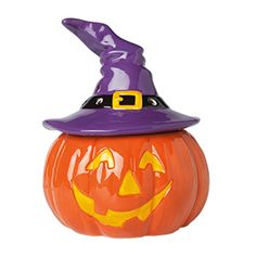 Enchanted #Scentsy  #jacko'lantern #pumpkin dressed in his Halloween best. Darling 3-piece Scentsy warmer with removable hat to change the fragrance in your Scentsy warmer.  Buy online at https://sattler.scentsy.us