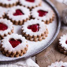 Healthy Peanut Butter Jelly Christmas Cookies are a typical German Christmas tradition. They're vegan, gluten free & refined sugar free.
