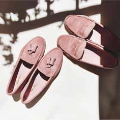 2200a4b74ea At The Shop  Pink Suede Tassel   Penny Loafers Black Espadrilles