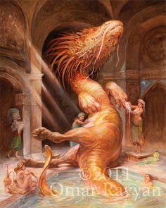 Dragon Hamam print by StudioRayyan on Etsy, $40.00