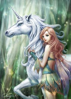 Unicorn with fairy: