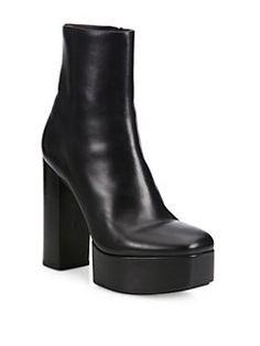Alexander Wang - Cora Leather Platform Booties