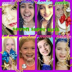 Seven super girls! Emily, jazzy, kaelyn, jenna, kathrine, rachael, mimi, and nicole! Emily is beautiful like a flower. Jazzy is awsome like a light bulb. Kaelyn is cute as an apple. Jenna is twinkly like a star. Kathrine is sweet like a candy. Rachael is funny just like a little biscut. Mimi is cool as a queen and nicole is smart as a cup of coffee! I love these girls! They always make my days bright!
