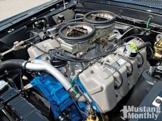 Boss 429 Engine - a small number of Mustangs were built with this Ford hemi engine in 1969 and I want to convert my 460 to this. Hemi Engine, Motor Engine, Car Engine, Engine Swap, Ford Mustang Boss, Mustang Cars, Mustang Engine, Mustang Fastback, Ford Mustangs