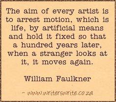 Arrest motion - William Faulkner - Writers Write