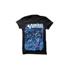 Asking Alexandria - Party T-Shirt *LAST ONE* - Asking Alexandria ($17) ❤ liked on Polyvore featuring tops, t-shirts, shirts, band tees, party t shirts, party tops, t shirt, night out tops and blue tee