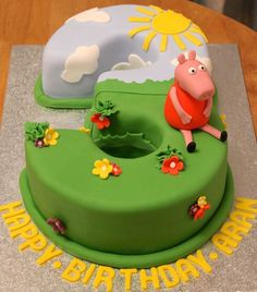 Image result for round peppa pig cakes