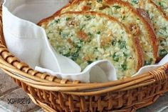 Roasted Garlic Bread - this would be good without the cheese also. I'm typically a fan of garlic bread without the cheese. A Food, Good Food, Food And Drink, Yummy Food, Food Art, La Trattoria, Tapas, Bread Winners, Bread And Pastries