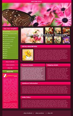 Template #1150 Fun, Butterfly w/ Flowers