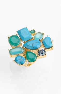kate spade new york 'crystal fiesta' stone cluster ring available at #Nordstrom