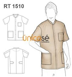 DELANTAL MAO HOMBRE Scrubs Uniform, Filipina, Flat Illustration, Elementary Schools, Couture, Mayo, Sewing, Coat, Pattern