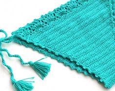Crochet Bikini Halter Bikini Top Crochet Bikini by senoAccessory