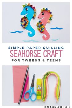 Quilling Seahorse Craft for Kids - That Kids' Craft Site
