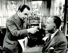 Edward G Robinson and Douglas Wood in I Am the Law ( 1938 )
