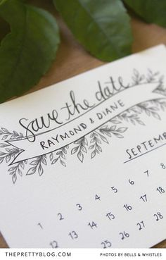cute and simple save the date. plus its a free printable, so would be very affordable (just cost of printing/paper). I can help you coordinate printing.