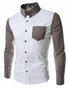 Mens slim fit 2 Tone Pocket point Shirts