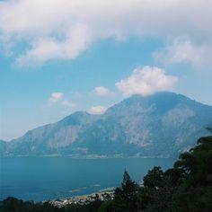 Beautiful view of Mount and Lake Batur <3  #MtBatur #Bali #Kintamani #Indonesia